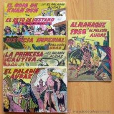 Tebeos: EL PALADIN AUDAZ - COLECCIÓN COMPLETA 35 TEBEOS MAS EL ALMANAQUE DE 1958 - EDITORIAL MAGA 1957. Lote 39058633