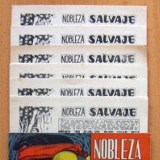 Tebeos: NOBLEZA SALVAJE - COMPLETA CON LAS TAPAS ORIGINALES - EDITORIAL MAGA (SUPLEMENTO DE PANTERA NEGRA). Lote 39067685