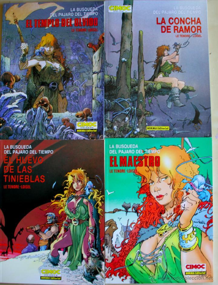 LA BUSQUEDA DEL PAJARO DEL TIEMPO. COLECCIÓN COMPLETA 4 ALBUNES. NORMA. (Tebeos y Comics - Tebeos Colecciones y Lotes Avanzados)