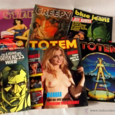 Tebeos: LOTE VARIADO DE TOTEM MAGAZINE * STAR * THE LIGHT AND DARKNESS WAR * SUPER BLUE JEANS * CREEPY. Lote 39932613
