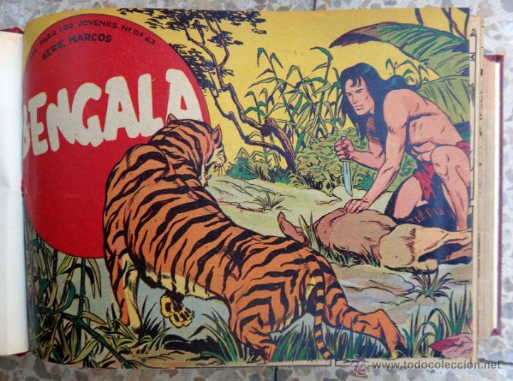 BENGALA 1ª Y 2ª PARTE, COMPLETA , COMPLETAS, EN UN SOLO TOMO , 54 + 45 EJEMPLARES, ORIGINALES (Tebeos y Comics - Tebeos Colecciones y Lotes Avanzados)