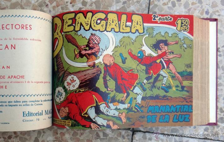 Tebeos: BENGALA 1ª Y 2ª PARTE, COMPLETA , COMPLETAS, EN UN SOLO TOMO , 54 + 45 EJEMPLARES, ORIGINALES - Foto 3 - 39969978