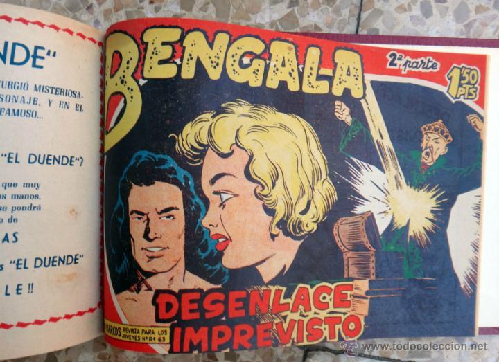 Tebeos: BENGALA 1ª Y 2ª PARTE, COMPLETA , COMPLETAS, EN UN SOLO TOMO , 54 + 45 EJEMPLARES, ORIGINALES - Foto 5 - 39969978