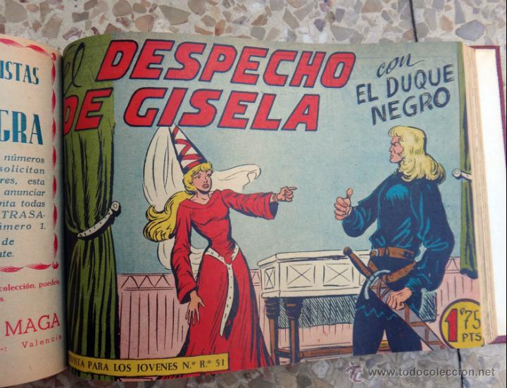 Tebeos: DUQUE NEGRO , MAGA , COLECCION COMPLETA , UN TOMO 42 EJEMPLARES, ORIGINALES - Foto 3 - 39970024