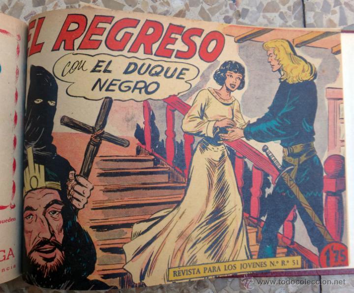 Tebeos: DUQUE NEGRO , MAGA , COLECCION COMPLETA , UN TOMO 42 EJEMPLARES, ORIGINALES - Foto 5 - 39970024