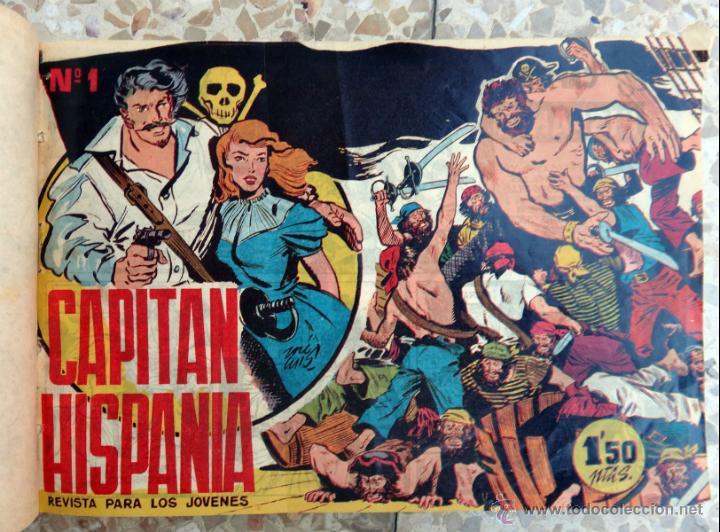 CAPITAN HISPANIA , EDITORIAL CREO , COLECCION COMPLETA , UN TOMO 28 EJEMPLARES, ORIGINALES (Tebeos y Comics - Tebeos Colecciones y Lotes Avanzados)
