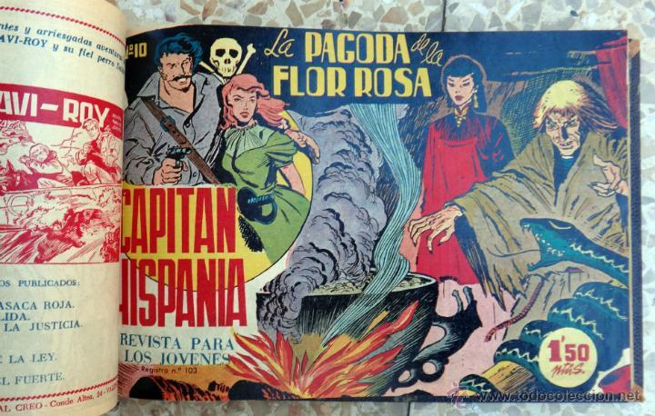 Tebeos: CAPITAN HISPANIA , EDITORIAL CREO , COLECCION COMPLETA , UN TOMO 28 EJEMPLARES, ORIGINALES - Foto 3 - 39970068