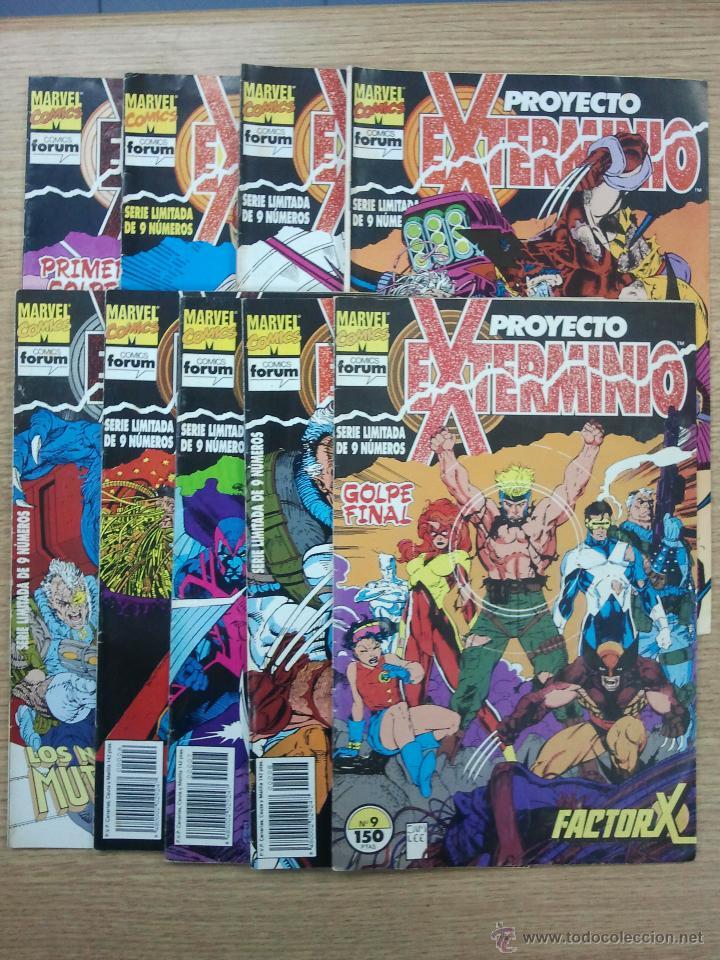 PROYECTO EXTERMINIO COLECCION COMPLETA (9 NUMEROS) (Tebeos y Comics - Tebeos Pequeños Lotes de Conjunto)