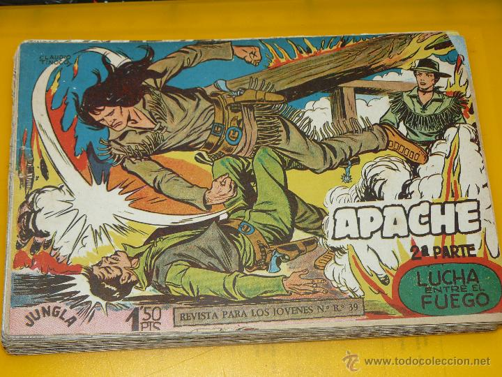 Tebeos: TEBEOS-COMICS GOYO - APACHE - 2ª SERIE - COMPLETA - CLAUDIO TINOCO **BB99 - Foto 4 - 44621721