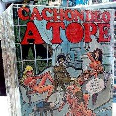 Tebeos: CACHONDEO / HUMOR A TOPE CASI COLECCIÓN COMPLETA 43 NÚMEROS + 1 ESP. (FALTA Nº 42) - M. DÍAZ / NORMA. Lote 46184003