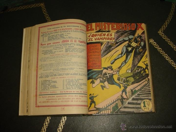 MISTERIOSO X (GARGA - 1950) (Tebeos y Comics - Tebeos Colecciones y Lotes Avanzados)