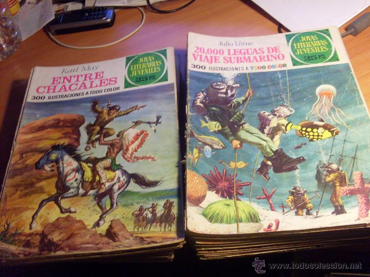 JOYAS LITERARIAS JUVENILES. LOTE 35 EJEMPLARES DIFERENTES (BRUGUERA) (CLA13) (Tebeos y Comics - Tebeos Colecciones y Lotes Avanzados)