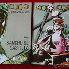 Tebeos: EL CID, COLECCIÓN COMPLETA, 4 TOMOS. ANTONIO H.PALACIOS.TOMO 4 DEDICADO POR EL AUTOR. 1ª EDICIÓN. Lote 47652087