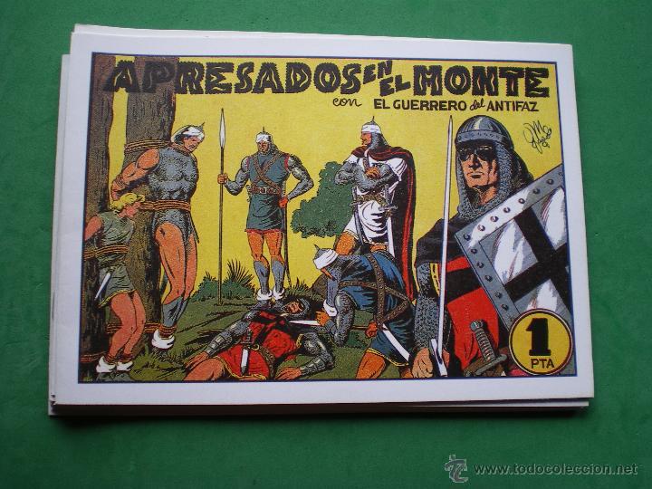 EL GUERRERO DEL ANTIFAZ EDITORIAL VALENCIANA BLANCO/NEGRO HORIZONTAL.EDICION FACSIMIL.9 PDELUXE (Tebeos y Comics - Tebeos Pequeños Lotes de Conjunto)