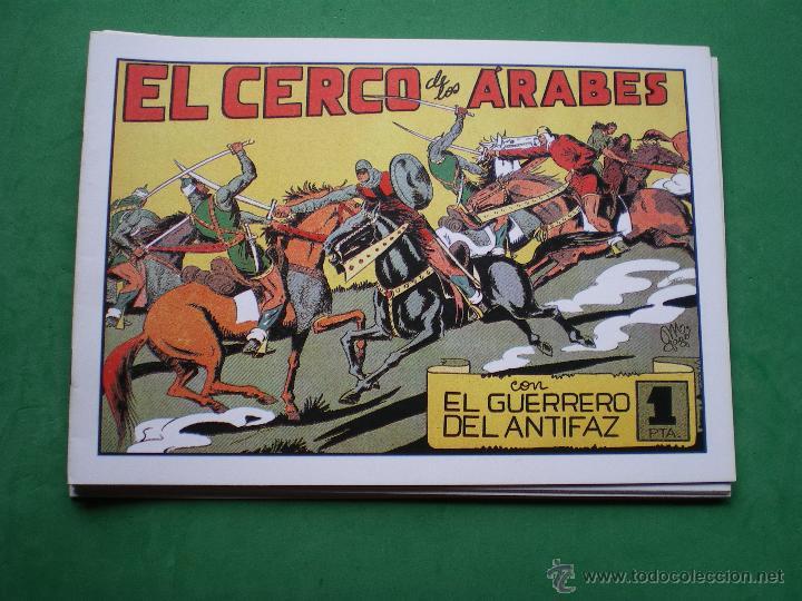 Tebeos: EL GUERRERO DEL ANTIFAZ EDITORIAL VALENCIANA Blanco/Negro Horizontal.Edicion Facsimil.9 PDELUXE - Foto 3 - 47723603