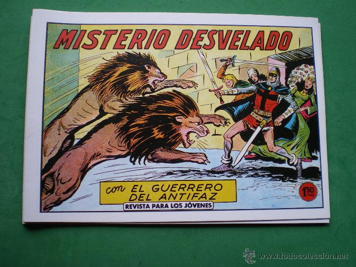 Tebeos: EL GUERRERO DEL ANTIFAZ EDITORIAL VALENCIANA Blanco/Negro Horizontal.Edicion Facsimil.9 PDELUXE - Foto 5 - 47723603