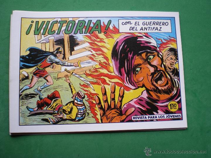 Tebeos: EL GUERRERO DEL ANTIFAZ EDITORIAL VALENCIANA Blanco/Negro Horizontal.Edicion Facsimil.9 PDELUXE - Foto 6 - 47723603