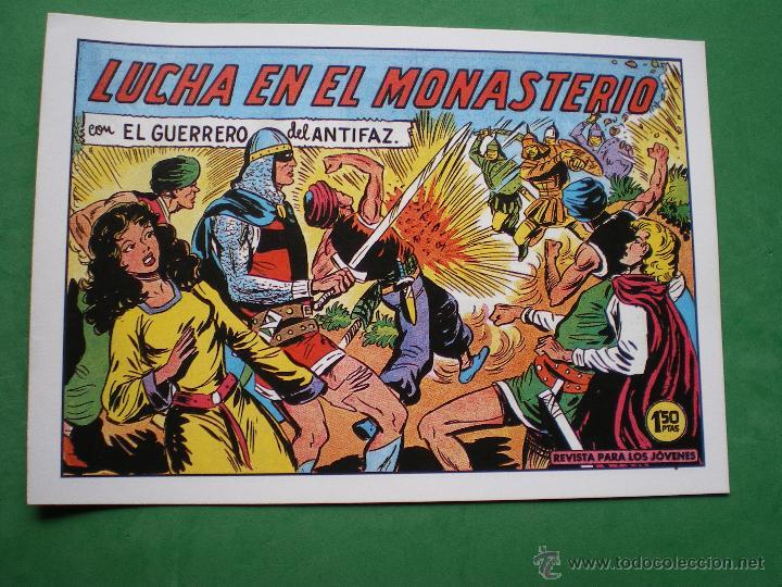Tebeos: EL GUERRERO DEL ANTIFAZ EDITORIAL VALENCIANA Blanco/Negro Horizontal.Edicion Facsimil.9 PDELUXE - Foto 9 - 47723603