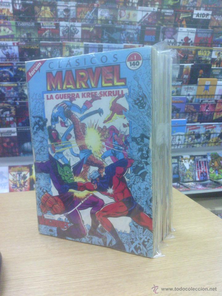 CLASICOS MARVEL PACK (CASI COMPLETA - 40 NUMEROS DE 41 + 6 ESPECIALES - FALTA EL #36) (Tebeos y Comics - Tebeos Colecciones y Lotes Avanzados)