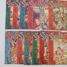 Tebeos: SAFARI - LOTE DE 12 EJEMPLARES DE 25 - ORIGINALES - RICART 1953 - JLV. Lote 48996224