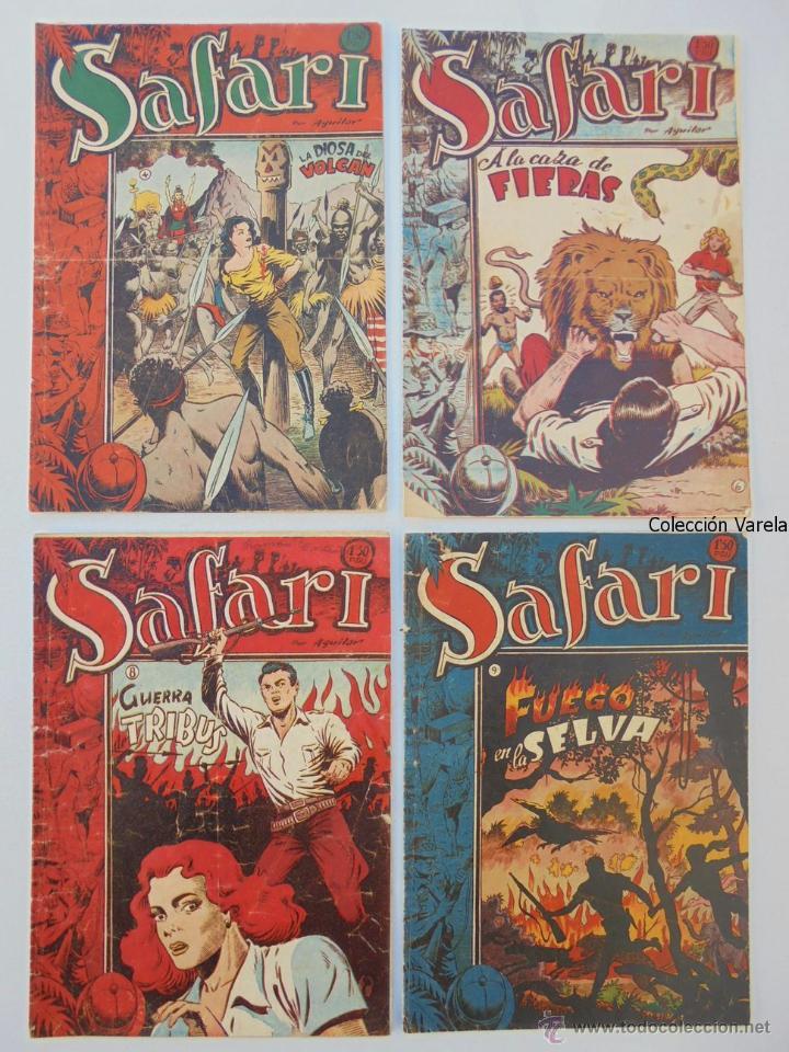 Tebeos: Safari - Lote de 12 ejemplares de 25 - Originales - Ricart 1953 - JLV - Foto 2 - 48996224