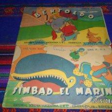 Tebeos: SIMBAD EL MARINO Y BERTOLDO SERIE A Y B NºS 6. COLECCIÓN RUBÍ. ED. SOPENA ARGENTINA. 1944. RAROS.. Lote 50694905
