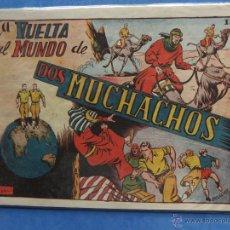 Tebeos: LA VUELTA AL MUNDO DE DOS MUCHACHOS ALBUM TORAY 1951 IMPECABLE. Lote 51144331