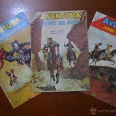 Tebeos: LOTE 3 AVENTURA - NUMEROS 378-394-411 - NOVARO - 1965 - ESTADO IMPECABLE!!!. Lote 51181523