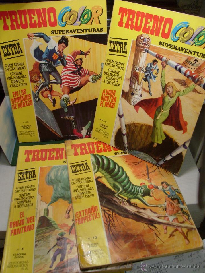 LOTE TRUENO COLOR TERCERA EPOCA CUATRO TEBEOS ALBUMES AMARILLOS (Tebeos y Comics - Tebeos Pequeños Lotes de Conjunto)