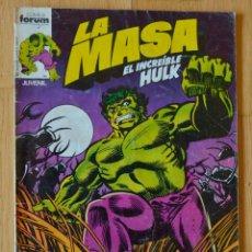 Tebeos: LA MASA VOL. 1 Nº1 - FORUM (MARVEL). Lote 51419499