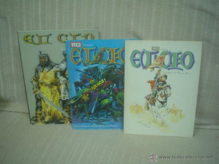 EL CID (HERNÁNDEZ PALACIOS). LOTE CON LOS TRES PRIMEROS TOMOS (Tebeos y Comics - Tebeos Colecciones y Lotes Avanzados)