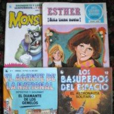 Tebeos: LOTE 4 COMICS NOVELADOS EL AGENTE DE LA NATIONAL-LOS BASUREROS DEL ESPACIO-ESTHER-MONSTRUOS AÑOS 80. Lote 53312481