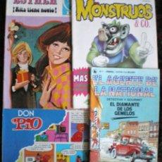 Tebeos: LOTE 4 COMICS ESTHER-MONSTRUOS-DON PÍO PEÑARROYA-EL AGENTE DE LA NATIONAL NOVELADO AÑOS 80. Lote 53329743