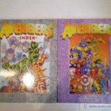 Tebeos: AVENGERS INDEX - VOLUMENES 1 Y 2 - MUY BUEN ESTADO - CJ 37 . Lote 53652566