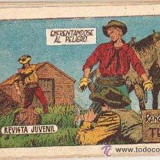 Tebeos: RANCHEROS DE TEXAS, AÑO 1.958. LOTE DE 6. TEBEOS ORIGINALES NUEVOS EDITORIAL SORIANO.. Lote 54353819