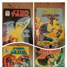Tebeos: LOTE DE 4 COMIC STAR TREK - KID COLT - GUERRA GALAXIAS - ARENA AÑOS 80. Lote 55783335