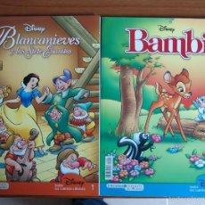 Tebeos: LOTE DE DOS COMICS DE CUENTOS DISNEY, BLANCANIEVES Y BAMBI.. Lote 55794196