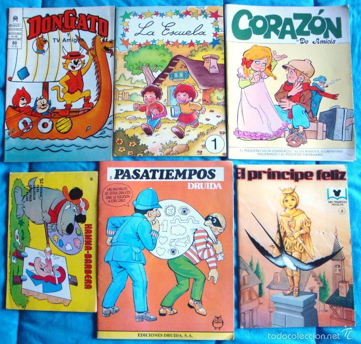 LOTE CUENTO INFANTIL CUENTO COLOREAR PASATIEMPOS INFANTILES AÑOS 80 NUEVOS 10 UNIDADES (Tebeos y Comics - Tebeos Pequeños Lotes de Conjunto)