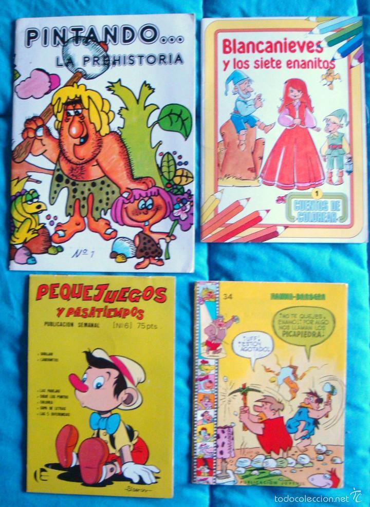 Tebeos: Lote cuento infantil cuento colorear pasatiempos infantiles años 80 nuevos 10 unidades - Foto 2 - 56473273