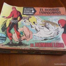 Tebeos: HEROES MODERNOS SERIE A - HOMBRE ENMASCARADO - CASI COMPLETA 75 NÚMEROS [FALTAN 11 EJEM] (DOLAR). Lote 58204332