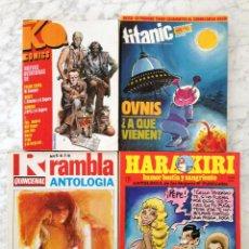 Tebeos: LOTE - 4 TOMOS ANTOLOGÍAS Y EXTRAS - K.O. COMICS - HARAKIRI - RAMBLA QUINCENAL - TITANIC (18 TOTAL). Lote 58550057