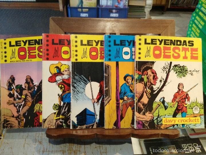 LEYENDAS DEL OESTE - 5 NÚMEROS - COLECCIÓN COMPLETA - ED. EUREDIT 1970 (Tebeos y Comics - Tebeos Colecciones y Lotes Avanzados)