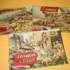 Tebeos: ANTIGUO LOTE DE 3 TOMOS DE EPISODIOS DE COREA DE EDITORIAL RICART- AÑO 1950S.. Lote 61272703