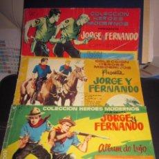 Tebeos: JORGE Y FERNANDO COLECCION COMPLETA, 3 TOMOS ORIGINALES DE EDITORIAL DOLAR AÑO 1958,. Lote 61288715