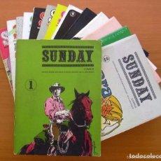 Tebeos: SUNDAY - EDITA MARIANO AYUSO 1976 - COMPLETA, 17 NÚMEROS EN 15 CUADERNOS. Lote 65680306