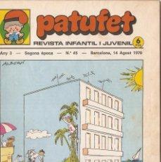 Tebeos: PATUFET - ANY 3 - SEGONA ÈPOCA ANY 1970 N 45. Lote 66493558