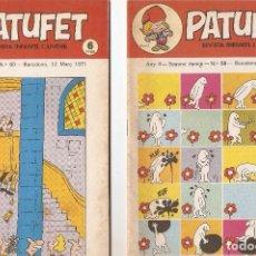 Tebeos: PATUFET - ANY 4 - SEGONA ÈPOCA ANY 1971 N 58 - 60. Lote 66772826