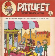 Tebeos: PATUFET - ANY 4 - SEGONA ÈPOCA ANY 1971 N 72. Lote 66773630