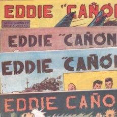 Tebeos: EDDIE CAÑON ORIGINAL LOTE 1 AL 5 EN MAGNÍFICO ESTADO - EDI. ACRÓPOLIS 1963, VER PORTADAS. Lote 67352625
