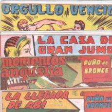 Tebeos: PUÑO DE BRONCE ORIGINAL LOTE NºS - 2,3,4,5,6,7,8,9,10 - EDI. ANDALUZA 1962 - VER LAS PORTADAS. Lote 67352941
